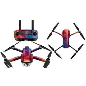 Waterdichte All-surround Adhesive Sticker voor DJI Mavic Pro(3D Red Purple)