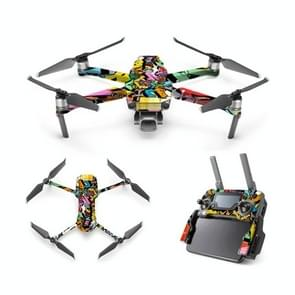 Cool Colorful Waterproof All-surround PVC Adhesive Sticker voor DJI Mavic 2 Pro / Mavic 2 ZOOM zonder Scherm (Graffiti)