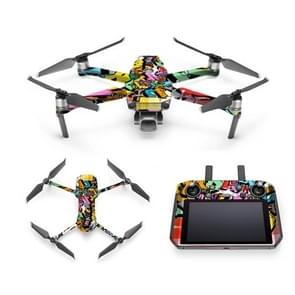Cool Colorful Waterproof All-surround PVC Adhesive Sticker voor DJI Mavic 2 Pro / Mavic 2 ZOOM met Screen(Graffiti)