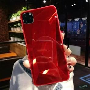 For iPhone 11 Shockproof Diamond Texture TPU Jelly Protective Case(Red)