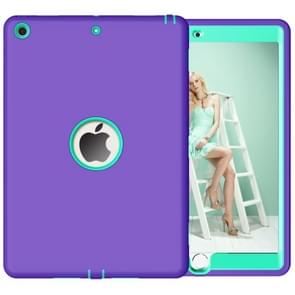 For iPad 10.2 inch Anti-Fingerprint Shockproof PC + Silicone Protective Case(Purple + Mint Green)