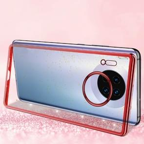 For Huawei Mate 30 SULADA Drop-proof TPU+ Plating Powder Protective Case(Red)
