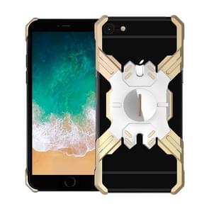Voor iPhone 6 Plus / 6 Hero Series Anti-fall Slijtvast Metalen beschermhoes met beugel (Goudzilver)