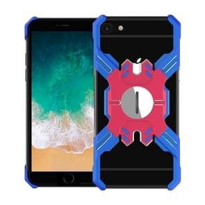 Voor iPhone 6 Plus / 6 Hero Series Anti-fall Slijtvast Metalen beschermhoes met beugel (Blauw Rood)