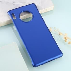 For Huawei Mate 30 Pro Solid Color Plastic Protective Case(Blue)