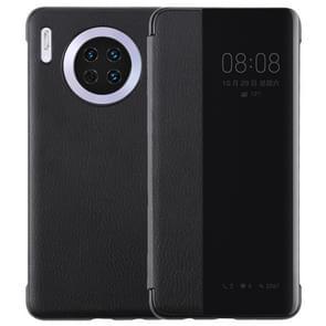 Voor Huawei mate 30 intelligent PU horizontale Flip beschermhoes met Smart View Window & slaap Wake-up functie (zwart)