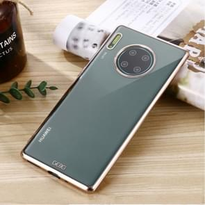 For Huawei Mate 30 Pro GEBEI Plating TPU Shockproof Protective Case(Champagne Gold)