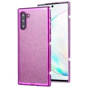 For Galaxy Note10 / Note10 5G Diamond Encrusted Flash Powder TPU Case(Purple)