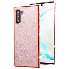 For Galaxy Note10 / Note10 5G Diamond Encrusted Flash Powder TPU Case(Rose Gold)