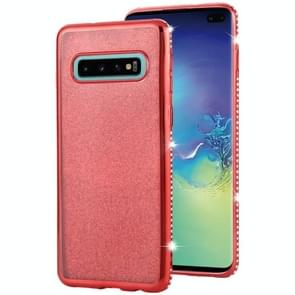 Voor Galaxy S10 Diamond encrusted Flash poeder TPU case (rood)