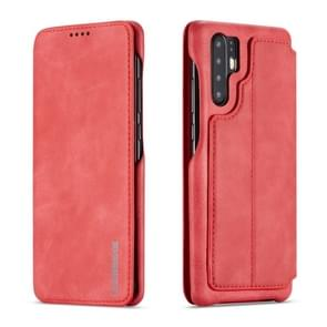 For Huawei P30 Pro Hon Ancient Series Leather Case with Card Slots & Holder & Wallet(Red)