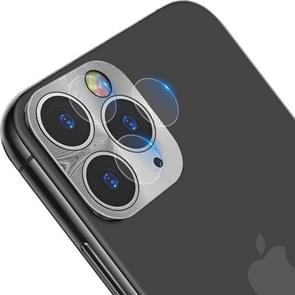 IMAK Full Coverage Metal Rear Camera Lens Protection Ring Cover with High Transparency Lens Film(Silver)