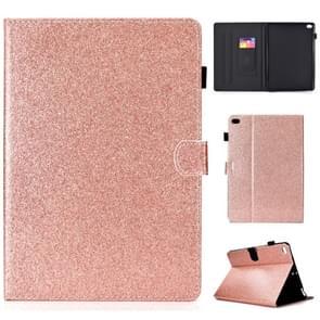 Voor iPad Air / Air 2 / iPad 9.7 Varnish Glitter Powder Horizontal Flip Leather Case met Holder & Card Slot (Rose Gold)
