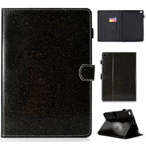 For iPad Air / Air 2 / iPad 9.7 Varnish Glitter Powder Horizontal Flip Leather Case with Holder & Card Slot(Black)