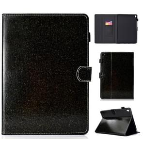 Voor iPad Pro 9 7 varnish glitter poeder horizontale Flip lederen draagtas met houder & kaartsleuf (zwart)
