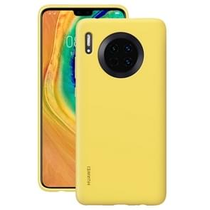 For Huawei Mate 30 Original Huawei Shockproof Silicone Protective Case(Yellow)
