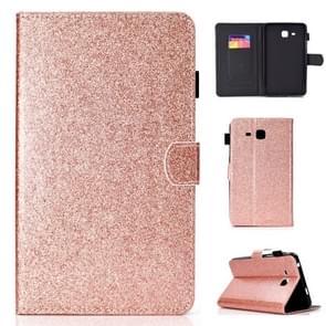 Voor Galaxy Tab A 7.0 (2016) T280 Varnish Glitter Powder Horizontal Flip Leather Case met Holder & Card Slot(Rose Gold)