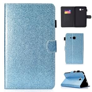 Voor Galaxy Tab A 7.0 (2016) T280 Varnish Glitter Powder Horizontal Flip Leather Case met Holder & Card Slot(Blauw)