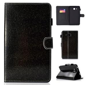 Voor Galaxy Tab A 7.0 (2016) T280 Varnish Glitter Powder Horizontal Flip Leather Case met Holder & Card Slot(Zwart)