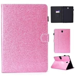 Voor Galaxy Tab S4 10.5 T830 Varnish Glitter Poeder Horizontal Flip Leather Case met Holder & Card Slot(Roze)