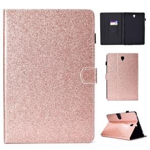 Voor Galaxy Tab S4 10.5 T830 Varnish Glitter Powder Horizontal Flip Leather Case met Holder & Card Slot(Rose Gold)