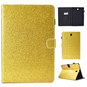 Voor Galaxy Tab S4 10.5 T830 Varnish Glitter Powder Horizontal Flip Leather Case met Holder & Card Slot(Gold)