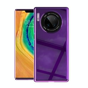 For Huawei Mate 30 Pro Solid Color Shockproof PC Glass Case(Purple)