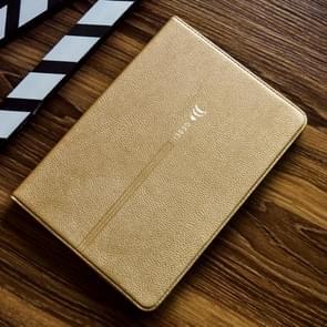Voor iPad Pro 9 7 inch GEBEI PU+TPU horizontale flip beschermhoes met houder & kaartsleuven (goud)