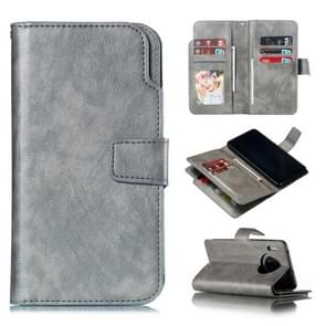 For Huawei Mate 30 Litchi Texture Horizontal Flip Leather Case, with Nine Card Slots & Wallet & Photo Frame(Grey)