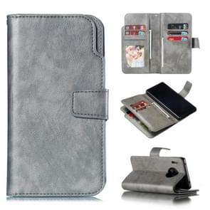 For Huawei Mate 30 Pro Litchi Texture Horizontal Flip Leather Case, with Nine Card Slots & Wallet & Photo Frame(Grey)