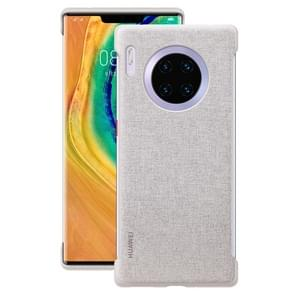 For Huawei Mate 30 Pro Original Huawei Shockproof PU Leather Protective Case(Grey)
