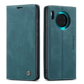 For Huawei Mate 30 4G / 5G CaseMe-013 Multifunctional Horizontal Flip Leather Case with Card Slot & Holder & Wallet(Blue)