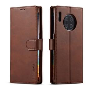 For Huawei Mate 30 Pro LC.IMEEKE Calf Texture Horizontal Flip Leather Case, with Holder & Card Slots & Wallet(Brown)