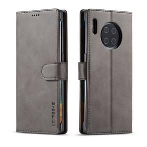 For Huawei Mate 30 Pro LC.IMEEKE Calf Texture Horizontal Flip Leather Case, with Holder & Card Slots & Wallet(Grey)
