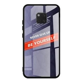 For Huawei Mate 20 Pro Shockproof PC + TPU + Glass Protective Case(Purple)