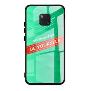 For Huawei Mate 20 Pro Shockproof PC + TPU + Glass Protective Case(Green)
