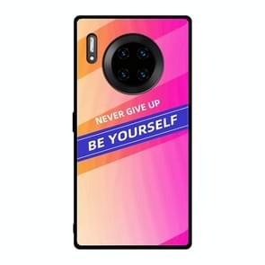 For Huawei Mate 30 Pro Shockproof PC + TPU + Glass Protective Case(Pink)