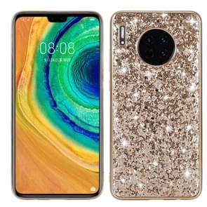 For Huawei Mate 30 Glittery Powder Shockproof TPU Case(Gold)