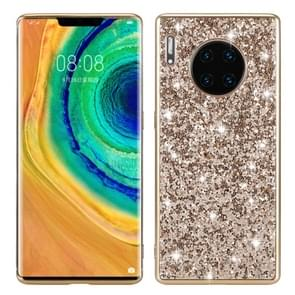 For Huawei Mate 30 Pro Glittery Powder Shockproof TPU Case(Gold)