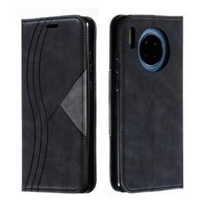 Voor Huawei mate 30 splicing kleur magnetische zoom horizontale Flip lederen draagtas met houder & kaartsleuven (zwart)