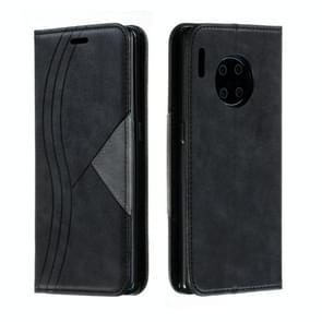 Voor Huawei mate 30 Pro splicing kleur magnetische zoom horizontale Flip lederen draagtas met houder & kaartsleuven (zwart)