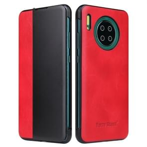 For Huawei Mate 30 Pro Crazy Horse Texture Smart View Window Horizontal Flip Leather Case(Red)
