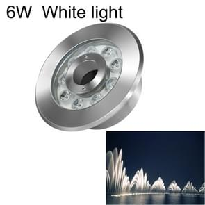 6W Landscape Ring LED Stainless Steel Underwater Fountain Light(White Light)