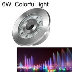 6W Landscape Colorful Color Changing Ring LED Stainless Steel Underwater Fountain Light(Colorful)