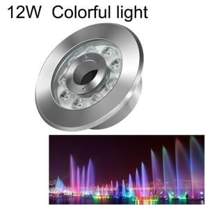 12W Landscape Colorful Color Changing Ring LED Stainless Steel Underwater Fountain Light(Colorful)