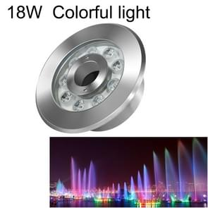 18W Landscape Colorful Color Changing Ring LED Stainless Steel Underwater Fountain Light(Colorful)