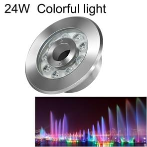 24W Landscape Colorful Color Changing Ring LED Stainless Steel Underwater Fountain Light(Colorful)