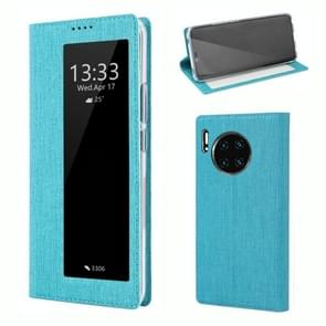 For Huawei Mate 30 Pro ViLi Smart View Window TPU + PU Horizontal Flip Protective Case with Holder & Sleep / Wake-up Function(Blue)