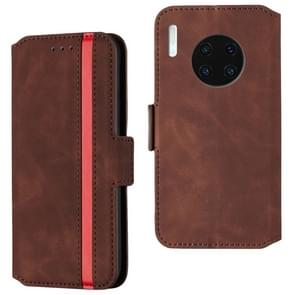 For Huawei Mate 30 Pro Retro Frosted Oil Side Horizontal Flip Case with Holder & Card Slots(Wine Red)