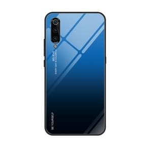 For Xiaomi Mi 9 Gradient Color Glass Case(Blue)